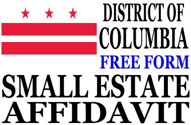 Small Estate Affidavit District of Columbia