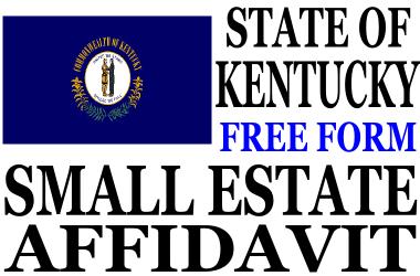 Small Estate Affidavit Kentucky