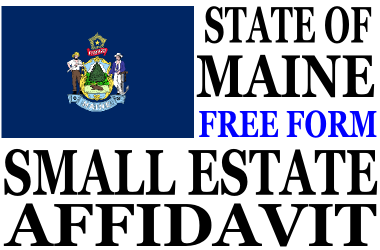 Small Estate Affidavit Maine
