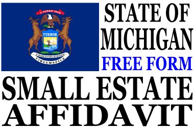 Small Estate Affidavit Michigan
