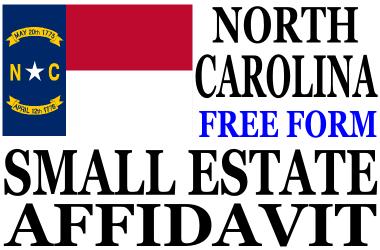 Small Estate Affidavit North Carolina