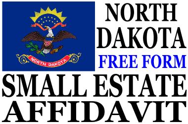 Small Estate Affidavit North Dakota