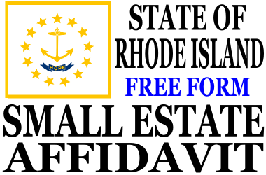 Small Estate Affidavit Rhode Island
