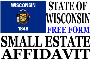 Small Estate Affidavit Wisconsin