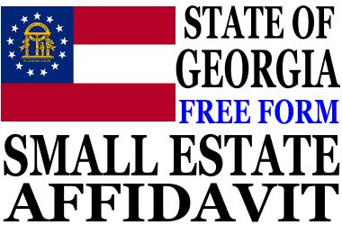 Small Estate Affidavit Georgia