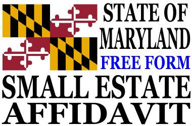 image about Free Printable Small Estate Affidavit Form known as Low Estate Affidavit Maryland - Low Estate Affidavit Kind