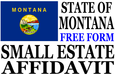Small Estate Affidavit Montana