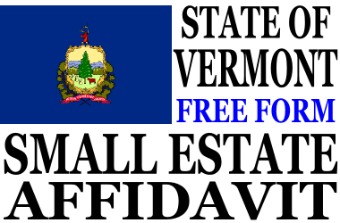 Small Estate Affidavit Vermont