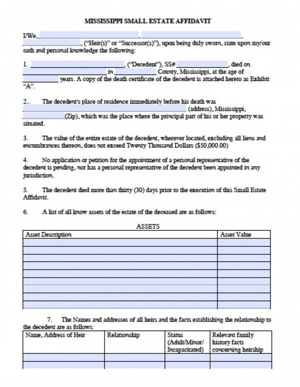 picture regarding Free Printable Small Estate Affidavit Form identified as Notarized very little estate affidavit clean jersey
